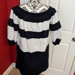 Crown and Ivy nautical off shoulder dress S